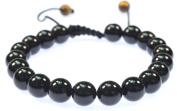 Round Black Onyx Gemstone Bracelet Good for Healing and Energy- 91019