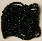 Cuff Bracelet - Black - Beaded Stretch Style, Indonesian