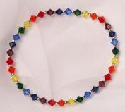Chakra Stretch Bracelet with. Crystal Beads
