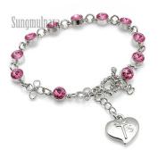 6mm Pink. Bead Rosary Bracelet