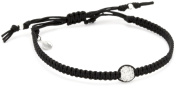 Tai Single Pave. Clear Crystal Ball on Cotton Cord Bracelet