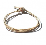 Men's Women's Natural Surfer Hawaiian Style Four String Hemp Bracelet - Handmade