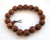 Wood Beads Safe Peace Tibetan Buddhist Wrist Mala Prayer Beads