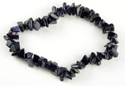. 1 Natural Blue Goldstone Crystal Healing Chip Gemstone 17.8cm Stretch Bracelet.