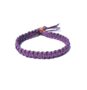 Purple Surfer Hawaiian Style Hemp Bracelet - Handmade