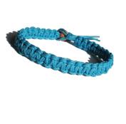 Turquoise Surfer Hawaiian Style Hemp Bracelet - Handmade