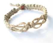 Love Knot Surfer Hawaiian Style Hemp Bracelet