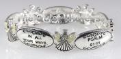 4030021 Psalm 91:11 Christian Scripture Religious Angel Stretch Bracelet