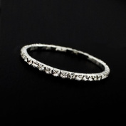 Bridal Rhinestone Stretch Bracelet [Set of 2]