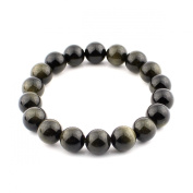 O-stone Natural Golden Obsidian Bracelet 10mm Grounding Stone Protection Amulet