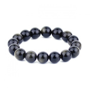 O-stone Natural Golden Obsidian Bracelet 12mm Grounding Stone Protection Amulet