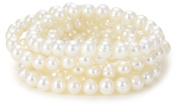 Honora Set of 5 White Freshwater Cultured Pearl Stretch Bracelets, 19.1cm