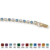 18.4cm Gold Plated Birthstone Bracelet Birthstone