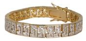 Willow Xpress Greek Key White CZ Pave Bracelet
