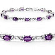 5cttw. Amethyst Infinity Tennis Bracelet set in Sterling Silver