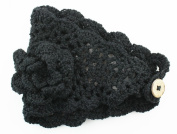 Knitted Flower Winter Headband (Large) - Knitted Cold Weather Headband