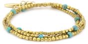 Ettika Tribal Bead Wrap Bracelet with Turquoise Semi Precious Stones