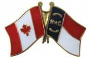 North Carolina - Canada Friendship Lapel Pin