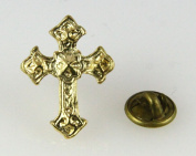 6030096 Christian Cross Lapel Pin Tie Tack Religious Church Jesus Christ Jewellery