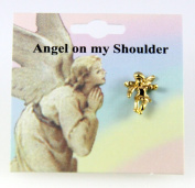 6030079 Guardian Angel Lapel Pin Brooch Tack Pin Christian Religious Jewellery