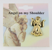 6030080 Guardian Angel Lapel Pin Brooch Tack Pin Christian Religious Jewellery
