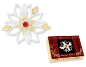 Christmas Holiday Poinsettia Pin w/ Gift Box