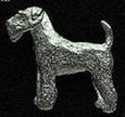 Pewter Airdale Terrier Pin