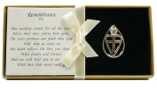 Remembrance Pin Tear Drop Cross Heart Jewelled Accent FREE FREIGHT!
