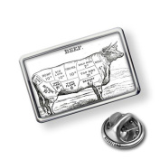 "Pin ""Beef / Butcher cuts"" - Lapel Badge - NEONBLOND"