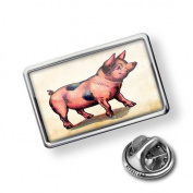 "Pin ""Pink Pig, Vintage"" - Lapel Badge - NEONBLOND"
