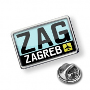 "Pin ""Airport code ""ZAG / Zagreb"" country"