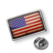 "Pin ""USAFlag with a vintage look"" - Lapel Badge - NEONBLOND"