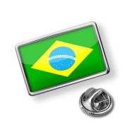 "Pin "" Brazil Flag"" - Lapel Badge - NEONBLOND"