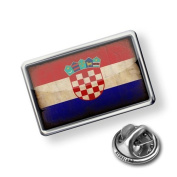 "Pin ""CroatiaFlag with a vintage look"" - Lapel Badge - NEONBLOND"