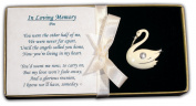 Bereavement Swan Pin Jewellery Memorial Brooch Ships Freight Free!