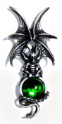 Majestic Dragon Pin with Green. Crystal