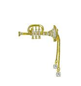 Willow Xpress Cubic Zirconia Trumpet Goldtone Pin