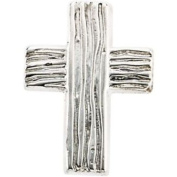The Rugged Cross Lapel Pin in Sterling Silver
