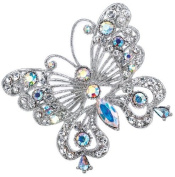 Clear Crystals Butterfly Pin Brooch
