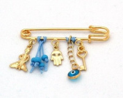 The Little Prince Pin for Baby Boys with Hamsa Hand and Luck Charms