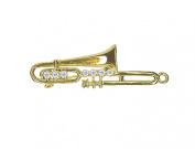 Willow Xpress CZ Trumbone Goldtone Pin