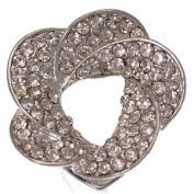 Alstromeria Silver Crystal Scarf Clip