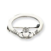 Sterling Silver Claddagh Pin - JewelryWeb