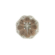 Rose Gold and Silver Tone Medallion Pin