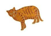 Standing ginger cat brooch