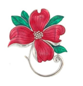 Hand enamelled dogwood brooch or pin