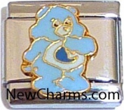 Light Blue Bear Italian Charm Bracelet Jewellery Link