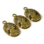 20pcs Coin Beauty Charms for Making Jewellery 2.9cm x 1.6cm ,pt-714