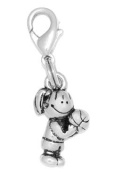 Clayvision Basketball Free Throw Girl Charm Zipper Pull for bracelets and decoration