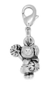 Clayvision Cheer Girl Cheerleader Charm Zipper Pull for bracelets and decoration